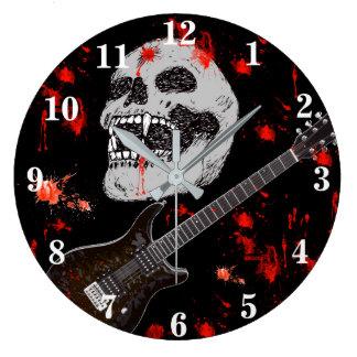 Death metal skull clock ラージ壁時計