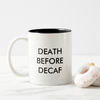 DECAFの前の死 ツートーンマグカップ
