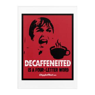 Decafは4手紙の単語です アクリルウォールアート
