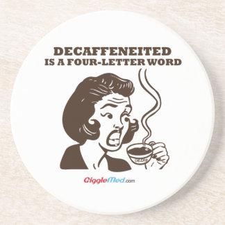 Decafは4手紙の単語です コースター