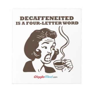 Decafは4手紙の単語です ノートパッド