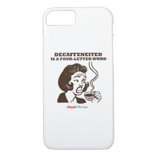 Decafは4手紙の単語です iPhone 8/7ケース