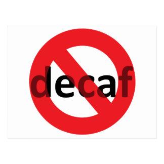 Decaf無し! ポストカード