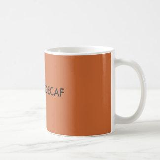 DECAF、いいえ コーヒーマグカップ