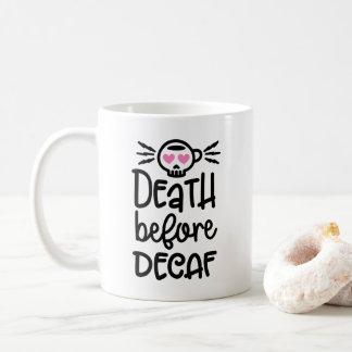 Decaf 11ozのマグの前の死 コーヒーマグカップ