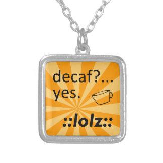 Decaf LOLZ シルバープレートネックレス