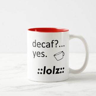 Decaf LOLZ ツートーンマグカップ