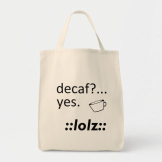 Decaf LOLZ トートバッグ