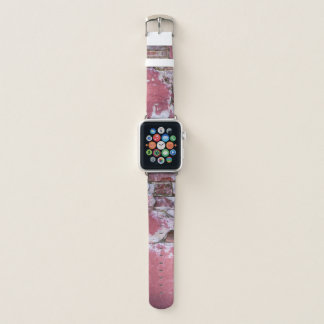 Decaying wall grunge texture in pink apple watchバンド