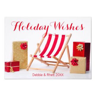 Deckchairおよびクリスマスプレゼント カード