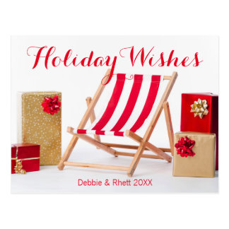 Deckchairおよびクリスマスプレゼント ポストカード
