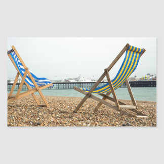 Deckchairsおよび鉄片 長方形シール