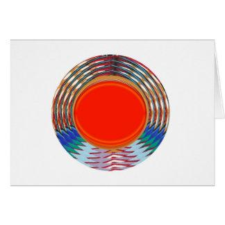 Decoのきらめくで赤い紋章: ギフトはエネルギーを出します グリーティングカード