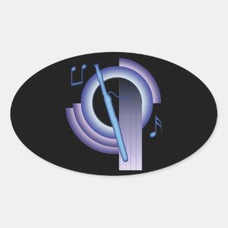 Decoのバスーン 楕円形シール