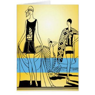 Decoのビーチ グリーティングカード