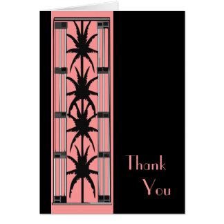 Decoのピンクのやしは感謝していしています カード