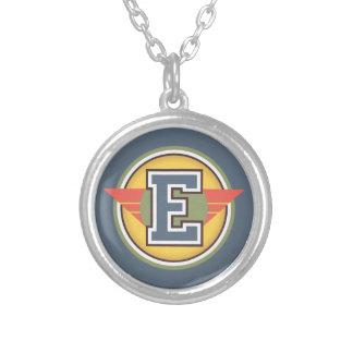 """Decoのモノグラムの手紙""""E""""のイニシャル シルバープレートネックレス"""