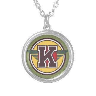"""Decoのモノグラムの手紙""""K""""のイニシャル シルバープレートネックレス"""