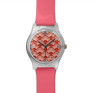 Decoの中国のな帆立貝、モモ、錆およびクリーム 腕時計