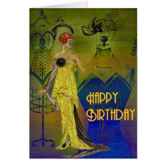 Decoの女性Yellow カード