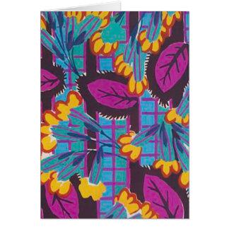 Decoの明るい花柄 カード