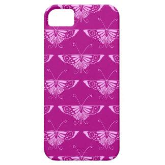 Decoの様式化された蝶-マゼンタおよびピンク iPhone SE/5/5s ケース
