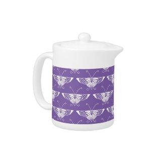 Decoの様式化された蝶-挨りだらけの薄紫