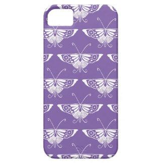 Decoの様式化された蝶-挨りだらけの薄紫 iPhone SE/5/5s ケース
