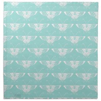 Decoの様式化された蝶-淡青色 ナプキンクロス
