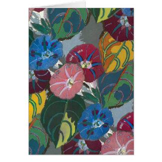Decoの花および葉 カード