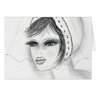 Decoの花嫁の女の子 カード
