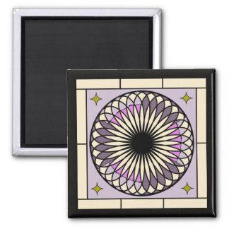 Decoの螺線形の紫色のデザイン マグネット