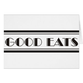 Decoは食べます グリーティングカード