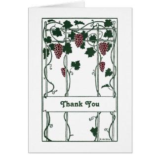 Decoエレガントなブドウのつる植物芸術を感謝していして下さい カード