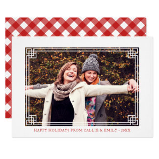 Decorative Frame - Happy Holidays Photo カード