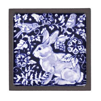 Dedhamの青いウサギ、クラシックで青及び白いデザイン ギフトボックス