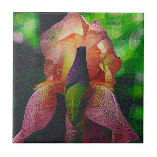 DeepDreamの花、アイリス タイル