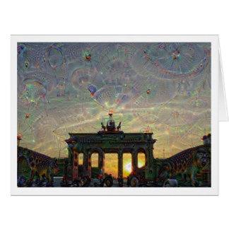 DeepDreamベルリン、ブランデンブルク門 カード