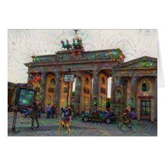 DeepDream都市、ブランデンブルク門、ベルリン カード