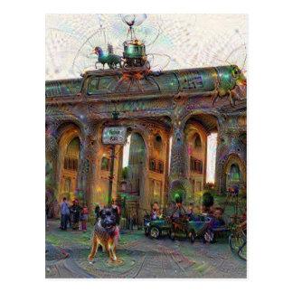 DeepDream都市、ブランデンブルク門、ベルリン ポストカード
