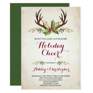 Deer Antler Party Invite - Christmas カード