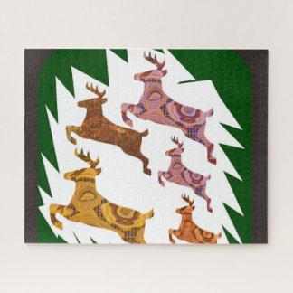 Deer wild animals pet run race games ジグソーパズル