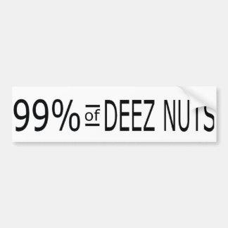 Deezのナットの99% バンパーステッカー