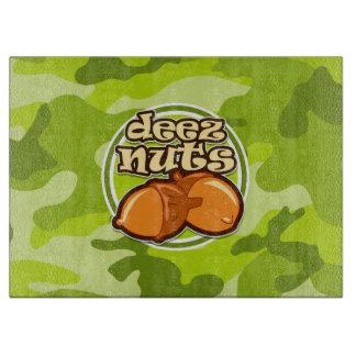 Deezのナット; 若草色の迷彩柄、カムフラージュ カッティングボード