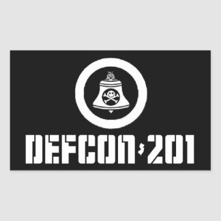 DEFCON 201 -- 非会員のステッカーセット 長方形シール