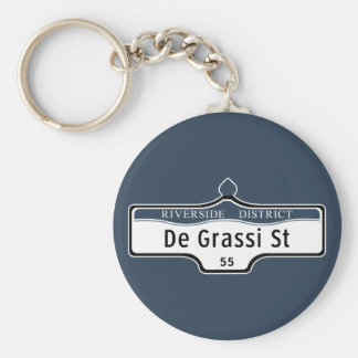 DeGrassiの通り、トロントの道路標識 キーホルダー