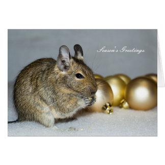 Degu及びつまらないものの季節の挨拶のクリスマス カード