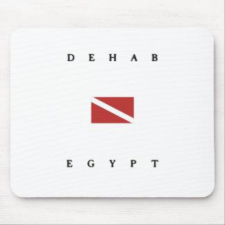 Dehabエジプトのスキューバ飛び込みの旗 マウスパッド