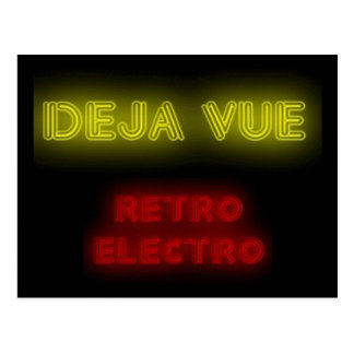 Deja Vueのレトロエレクトロ郵便はがき ポストカード