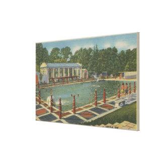 Del Monte、カリフォルニア-ホテルのローマの突進 キャンバスプリント